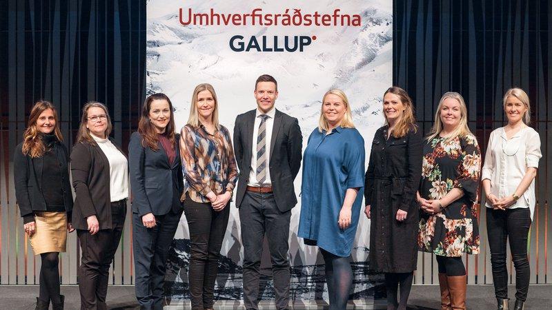 Hópmynd af fyrirlesurum á Umhverfisráðstefnu Gallup 2020